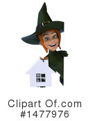 Green Witch Clipart #1477976 by Julos