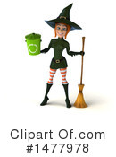 Green Witch Clipart #1477978 by Julos