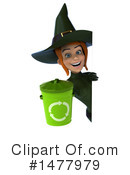 Green Witch Clipart #1477979 by Julos
