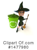Green Witch Clipart #1477980 by Julos