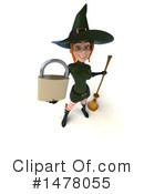 Green Witch Clipart #1478055 by Julos