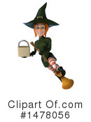 Green Witch Clipart #1478056 by Julos