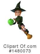 Green Witch Clipart #1480073 by Julos