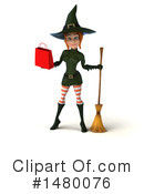 Green Witch Clipart #1480076 by Julos