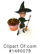 Green Witch Clipart #1480078 by Julos