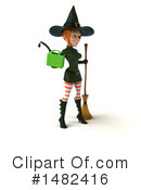 Green Witch Clipart #1482416 by Julos