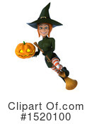 Green Witch Clipart #1520100 by Julos