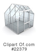 Royalty-Free (RF) Greenhouse Clipart Illustration #22379