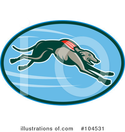 Royalty-Free (RF) Greyhound Clipart Illustration by patrimonio - Stock Sample #104531