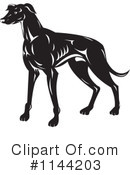 Greyhound Clipart #1144203 by patrimonio