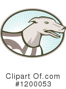 Greyhound Clipart #1200053 by patrimonio