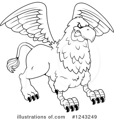 Griffin Clipart #1243249 by Cory Thoman