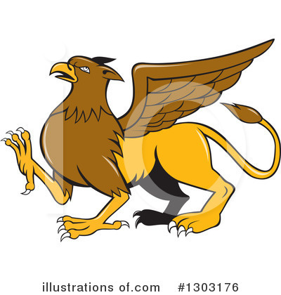 Royalty-Free (RF) Griffin Clipart Illustration by patrimonio - Stock Sample #1303176