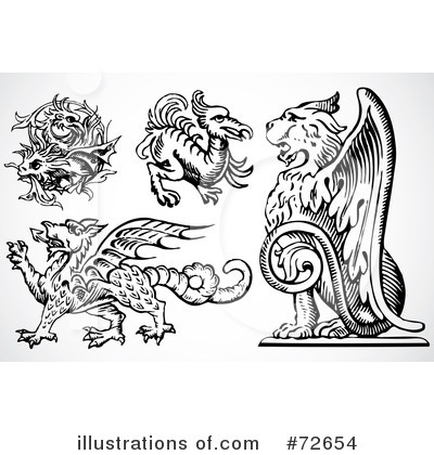 Royalty-Free (RF) Griffin Clipart Illustration by BestVector - Stock Sample #72654