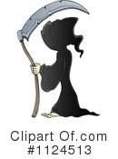 Royalty-Free (RF) Grim Reaper Clipart Illustration #1124513