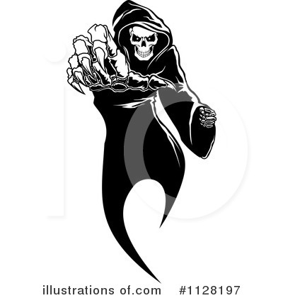 Royalty-Free (RF) Grim Reaper Clipart Illustration by Vector Tradition SM - Stock Sample #1128197