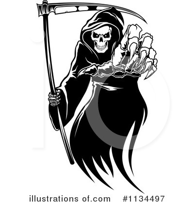 Grim Reaper Clipart #1134497 by Vector Tradition SM