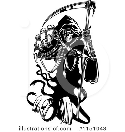 Grim Reaper Clipart #1151043 by Vector Tradition SM