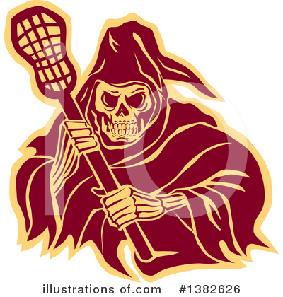 Royalty-Free (RF) Grim Reaper Clipart Illustration by patrimonio - Stock Sample #1382626