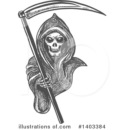 Grim Reaper Clipart #1403384 by Vector Tradition SM
