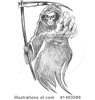 Grim Reaper Clipart #1403386 by Vector Tradition SM