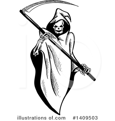 Grim Reaper Clipart #1409503 by Vector Tradition SM