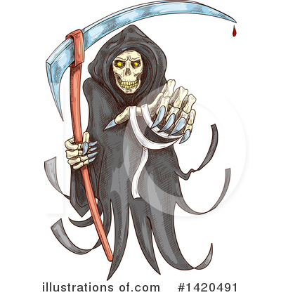 Royalty-Free (RF) Grim Reaper Clipart Illustration by Vector Tradition SM - Stock Sample #1420491