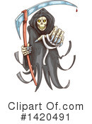Royalty-Free (RF) Grim Reaper Clipart Illustration #1420491
