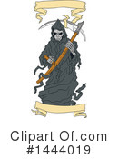 Royalty-Free (RF) Grim Reaper Clipart Illustration #1444019
