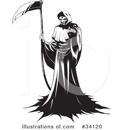Death Clipart #34120 by Lawrence Christmas Illustration
