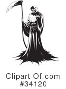 Royalty-Free (RF) Grim Reaper Clipart Illustration #34120