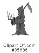 Royalty-Free (RF) Grim Reaper Clipart Illustration #85686