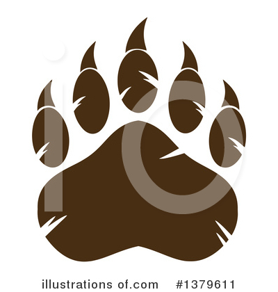 Paw Prints Clipart #1379611 by Hit Toon