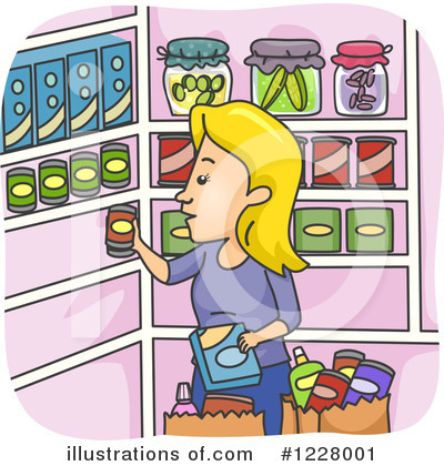 Groceries Clipart #1228001 by BNP Design Studio