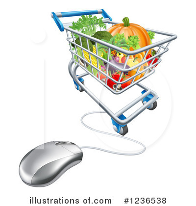 Shopping Cart Clipart #1236538 by AtStockIllustration