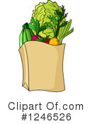 Groceries Clipart #1246526 by Vector Tradition SM