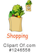 Groceries Clipart #1246558 by Vector Tradition SM