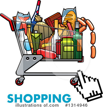 Shopping Cart Clipart #1314946 by Vector Tradition SM