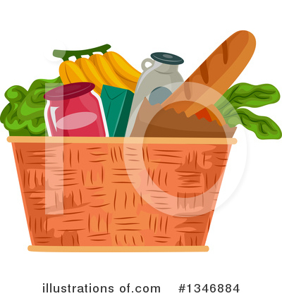 Groceries Clipart #1346884 by BNP Design Studio