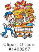 Groceries Clipart #1408267 by Johnny Sajem