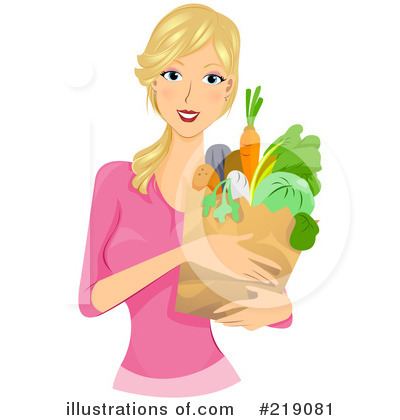Royalty-Free (RF) Grocery Shopping Clipart Illustration by BNP Design Studio - Stock Sample #219081