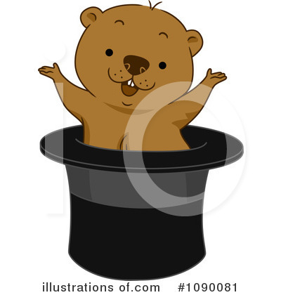 Royalty-Free (RF) Groundhog Clipart Illustration by BNP Design Studio - Stock Sample #1090081