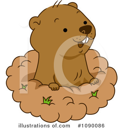 Groundhog Clipart #1090086 by BNP Design Studio