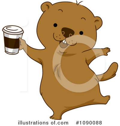 Groundhog Clipart #1090088 by BNP Design Studio