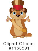 Royalty-Free (RF) groundhog Clipart Illustration #1160591