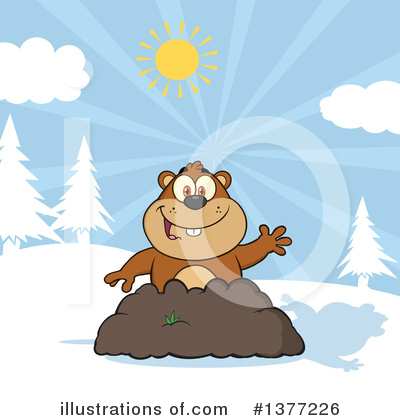 Groundhog Clipart #1377226 by Hit Toon
