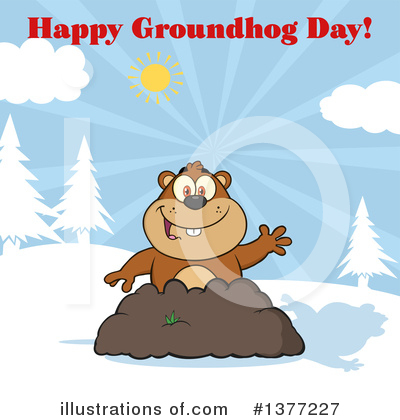 Groundhog Clipart #1377227 by Hit Toon