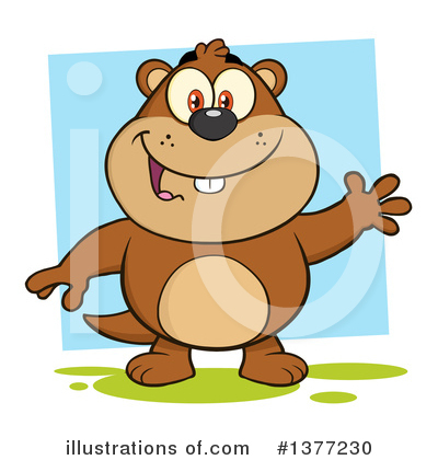 Groundhog Clipart #1377230 by Hit Toon