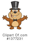 Groundhog Clipart #1377231 by Hit Toon