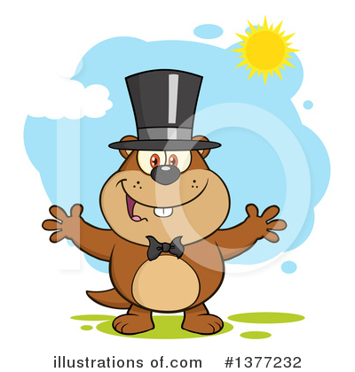 Groundhog Clipart #1377232 by Hit Toon
